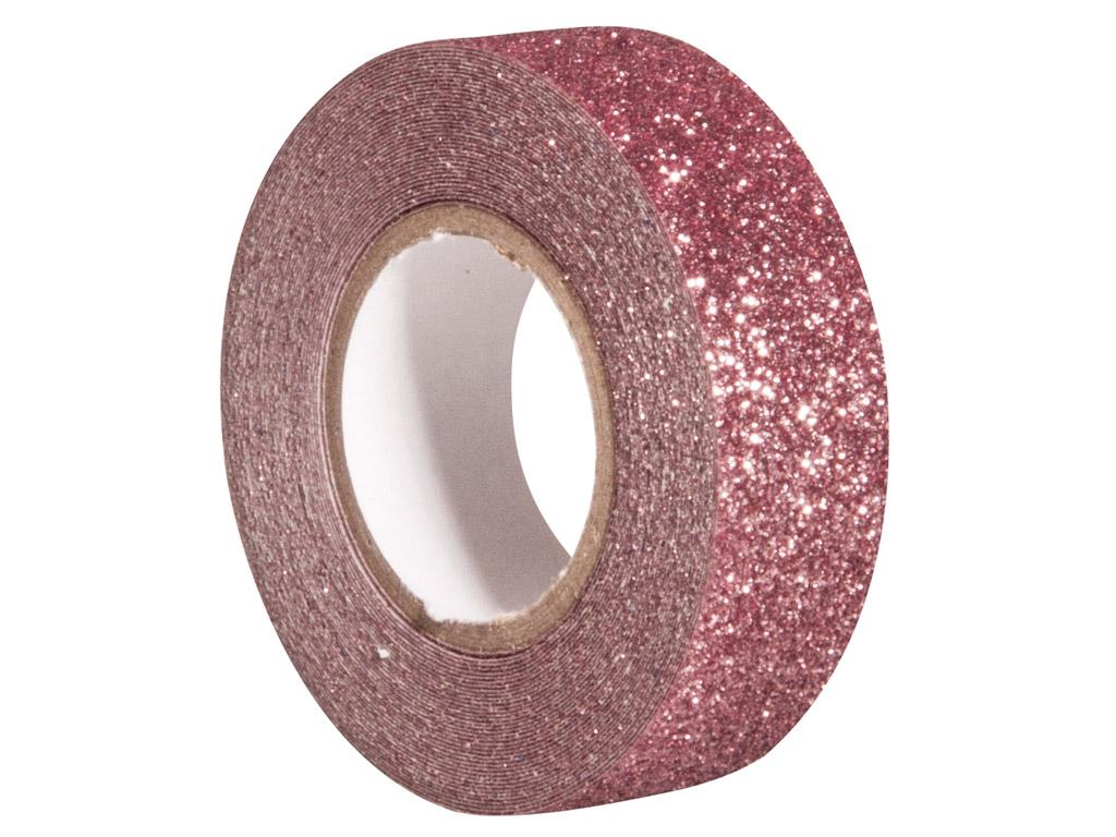 Līmlente ar glīteriem Rayher 15mmx5m antique pink