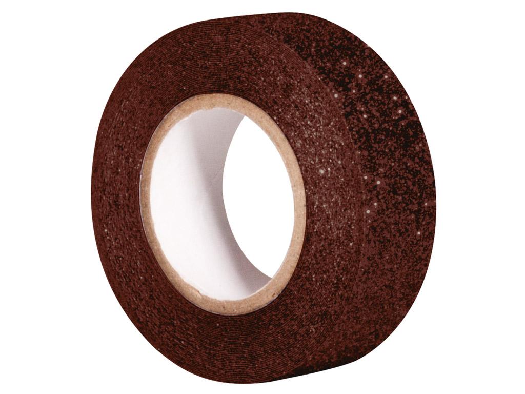 Glitterteip Rayher 15mmx5m dark brown
