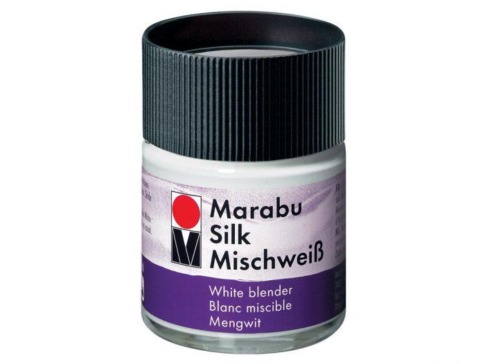 Siidivärvi segamisvalge Marabu
