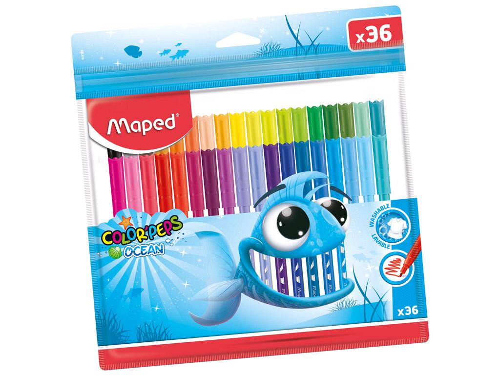 Viltpliiats ColorPeps Ocean 36tk