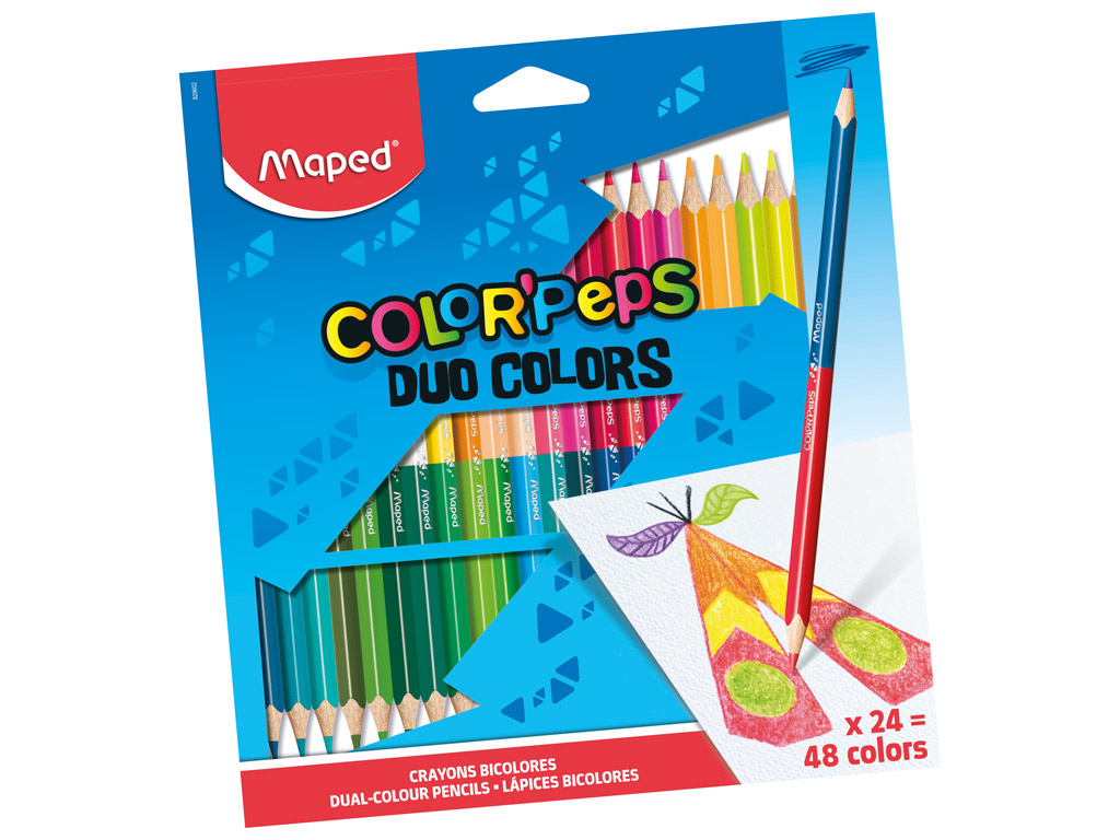 Värvipliiats ColorPeps Duo 24tk=48tk