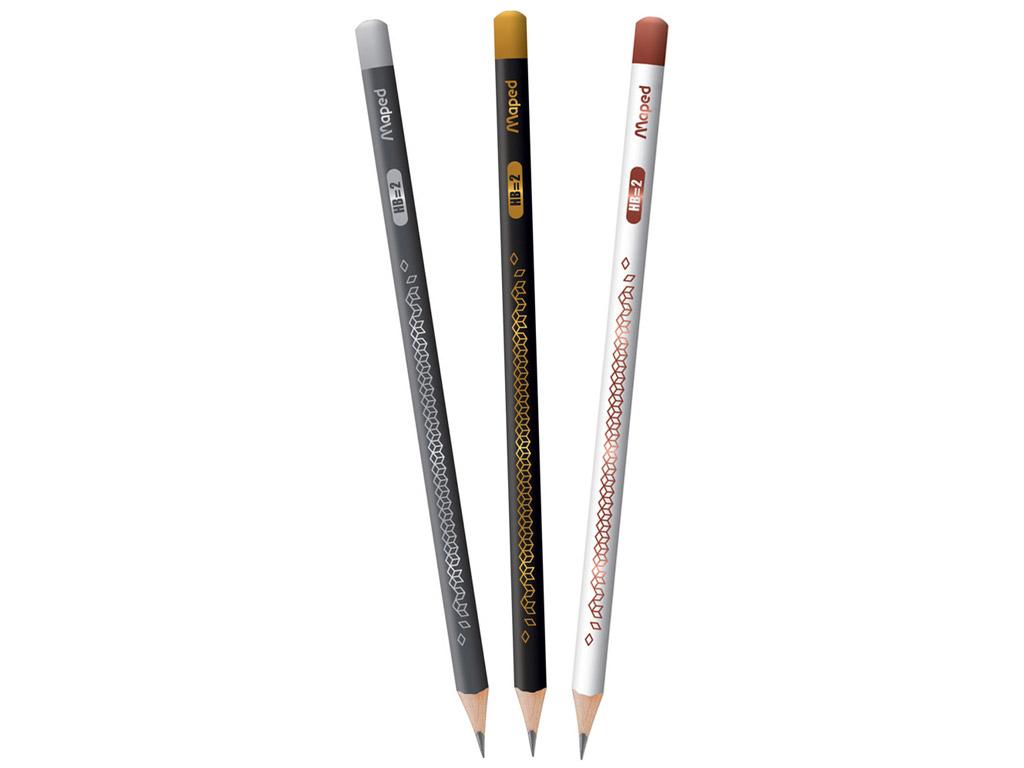 Parastais zīmulis BlackPeps Deco trijst. HB asorti