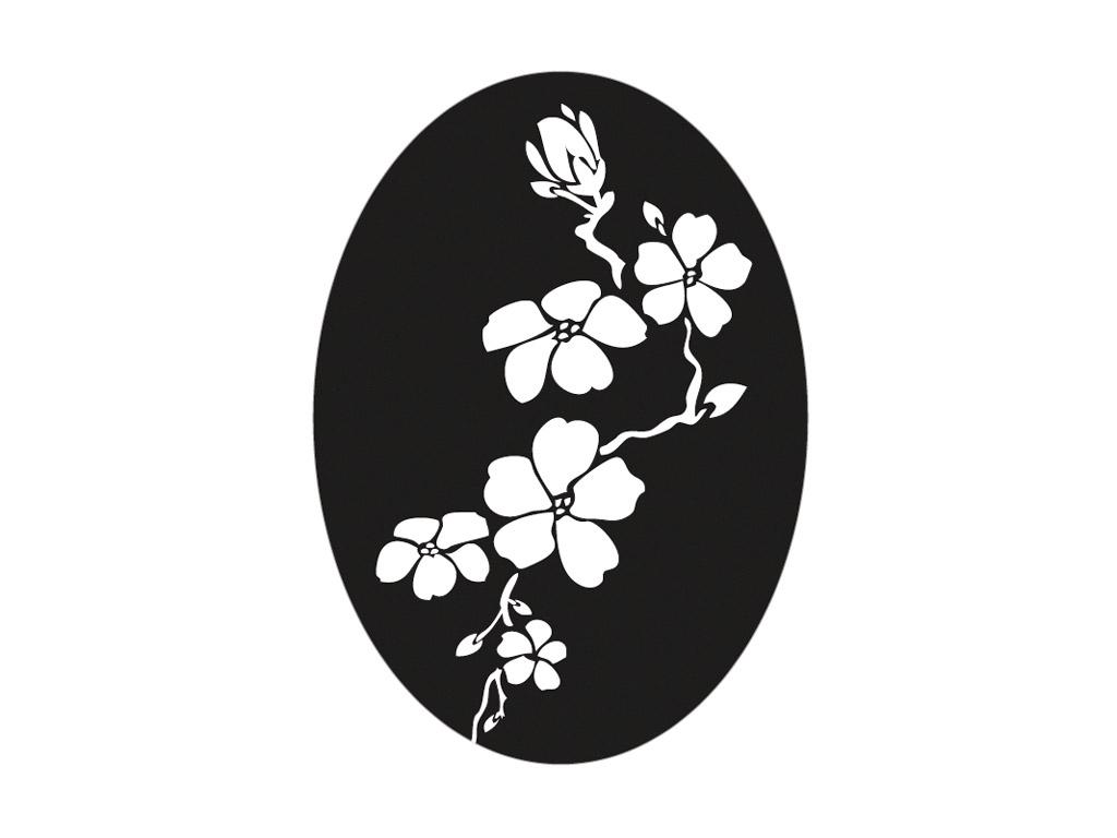 Tekstūras formas liešanas tehnikām Rayher 40x55mm ķiršu ziedi