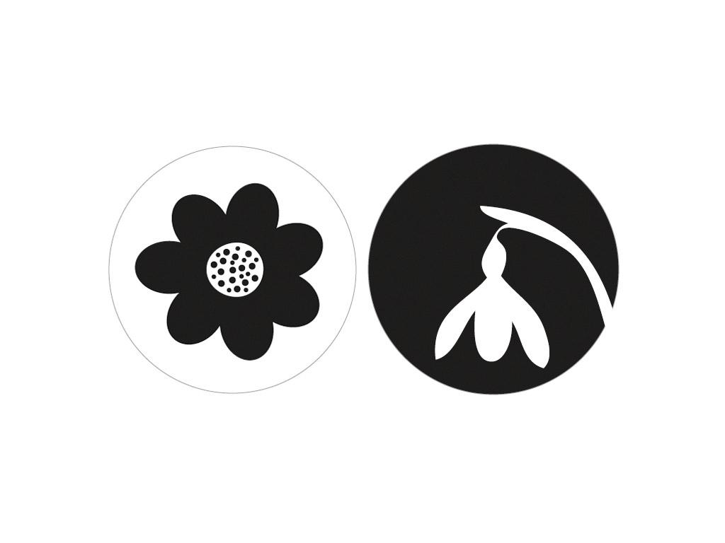 Tekstūras formas liešanas tehnikām Rayher d=30mm zieds+sniegpulkstenīte 2gab.
