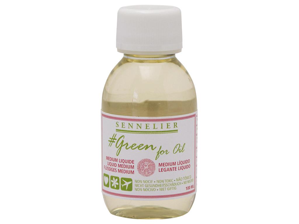 Õlivärvi meedium Sennelier Green for Oil Liquid 100ml