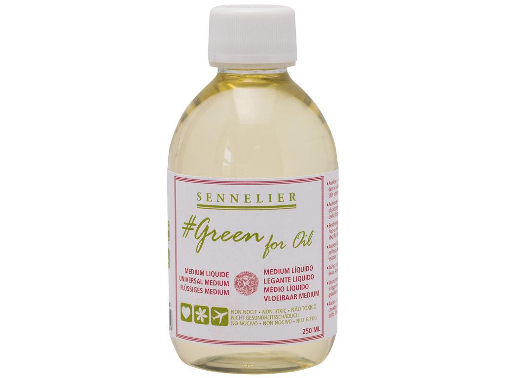 Õlivärvi meedium Sennelier Green for Oil Liquid 250ml