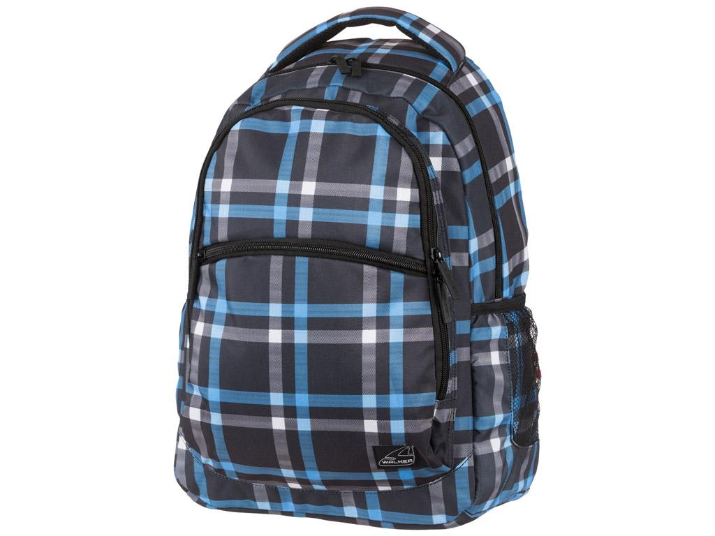 Skolas soma Walker Base Classic zila/melna rūtains