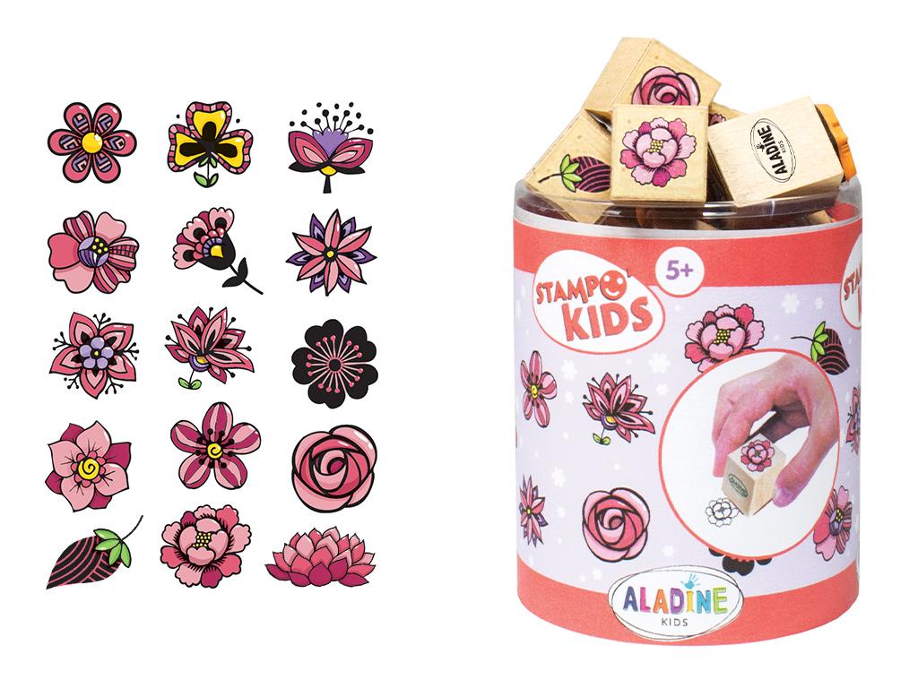 Tempel Aladine Stampo Kids 15tk Flowers + templipadi must