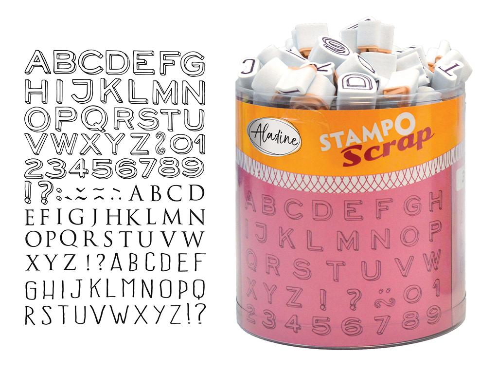 Tempel Aladine Stampo Scrap 103tk Mini Alphabet + templipadi must