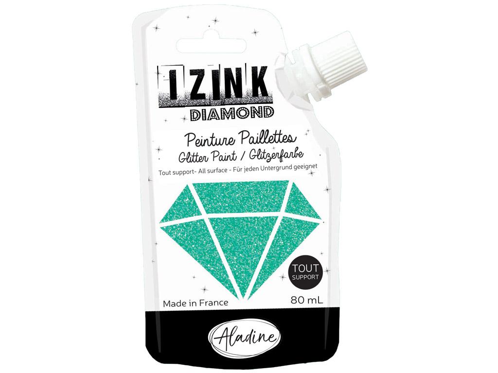 Dekoorvärv Aladine Izink Diamond 80ml turquoise