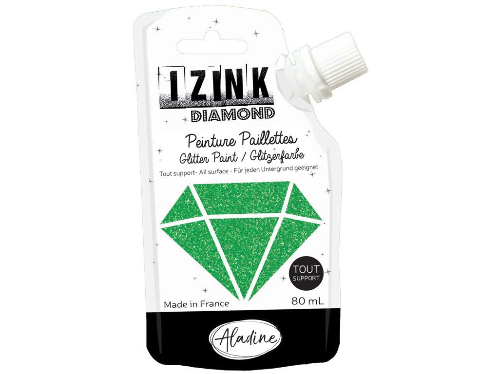 Dekoorvärv Aladine Izink Diamond 80ml dark green