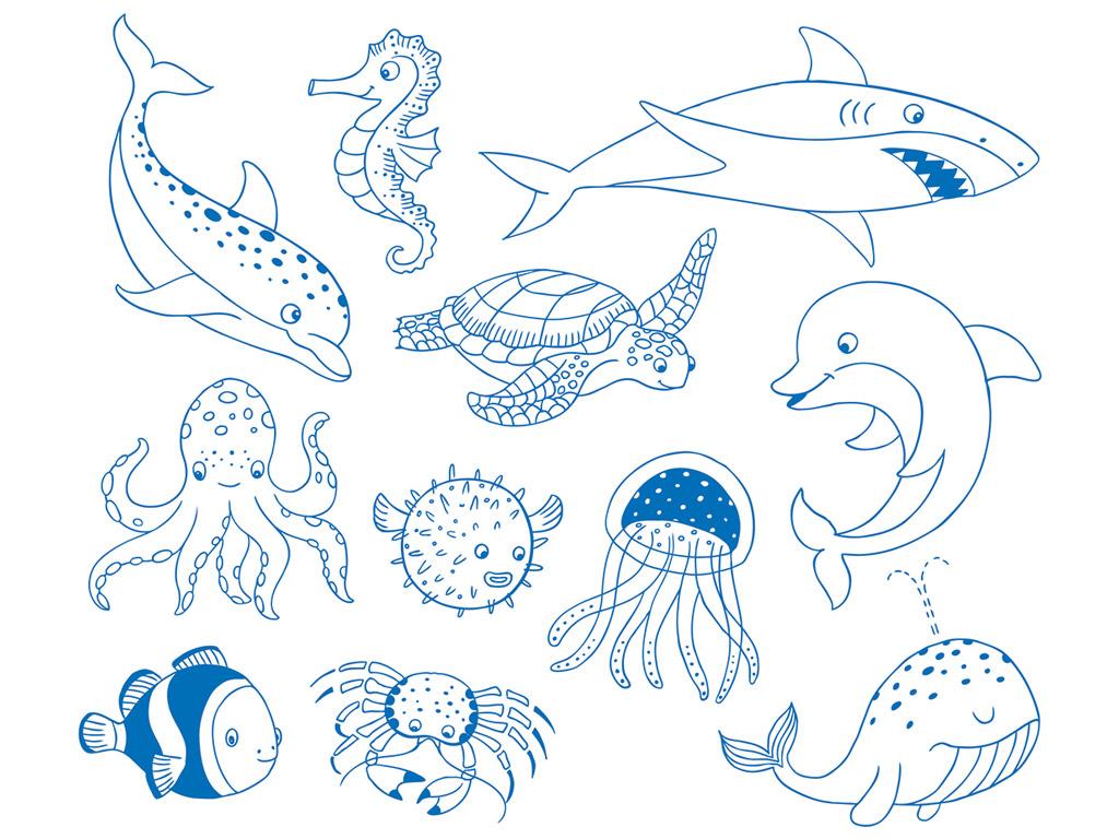 Zīmogs Aladine Stampo Minos 11gab. Sea + zīmoga spilventiņš melna
