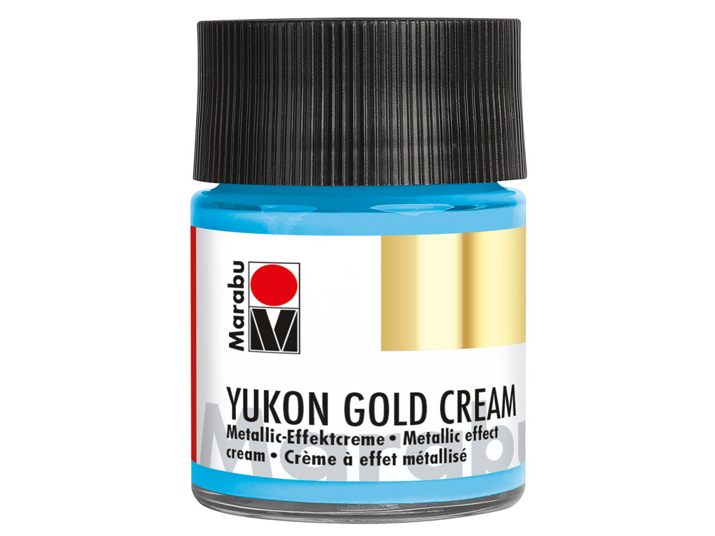 Dekoorvärv Yukon Gold Cream 50ml 753 metallic-light blue