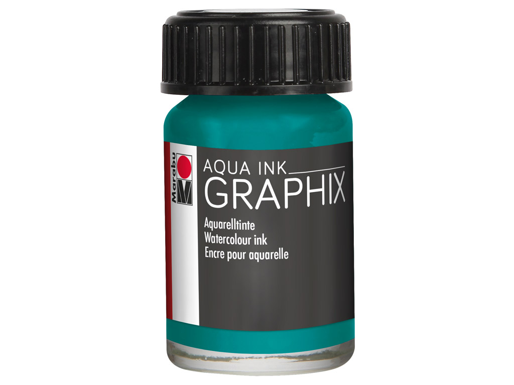 Akvarelltint Graphix 15ml 092 petrol