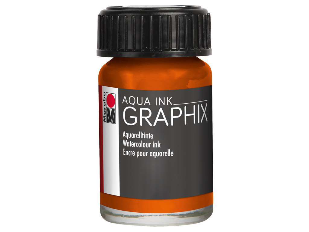 Akvareļu tinte Graphix 15ml 013 orange