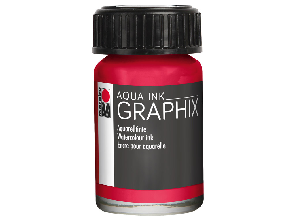 Akvareļu tinte Graphix 15ml 032 carmine red