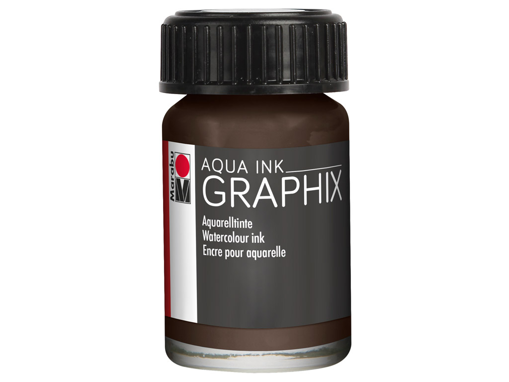 Akvareļu tinte Graphix 15ml 045 brown