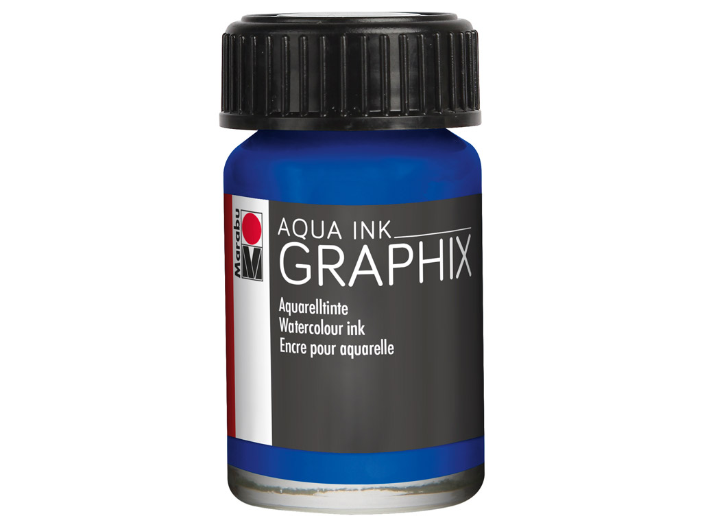 Akvareļu tinte Graphix 15ml 055 ultramarine