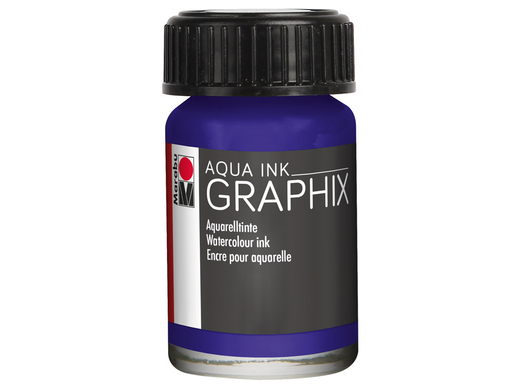 Akvareļu tinte Graphix 15ml 051 dark violet