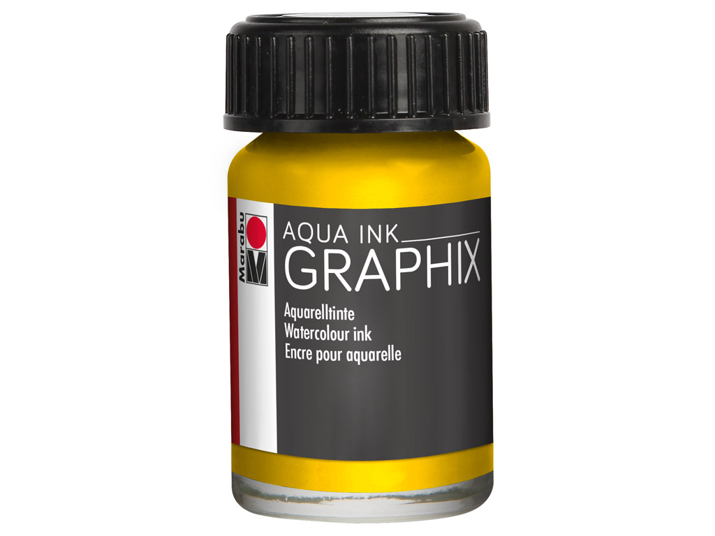 Akvareļu tinte Graphix 15ml 020 lemon