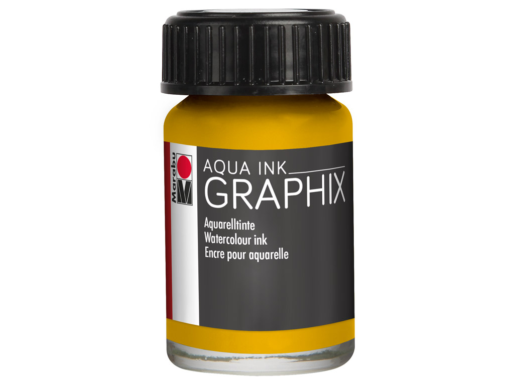 Akvareļu tinte Graphix 15ml 220 sunshine yellow