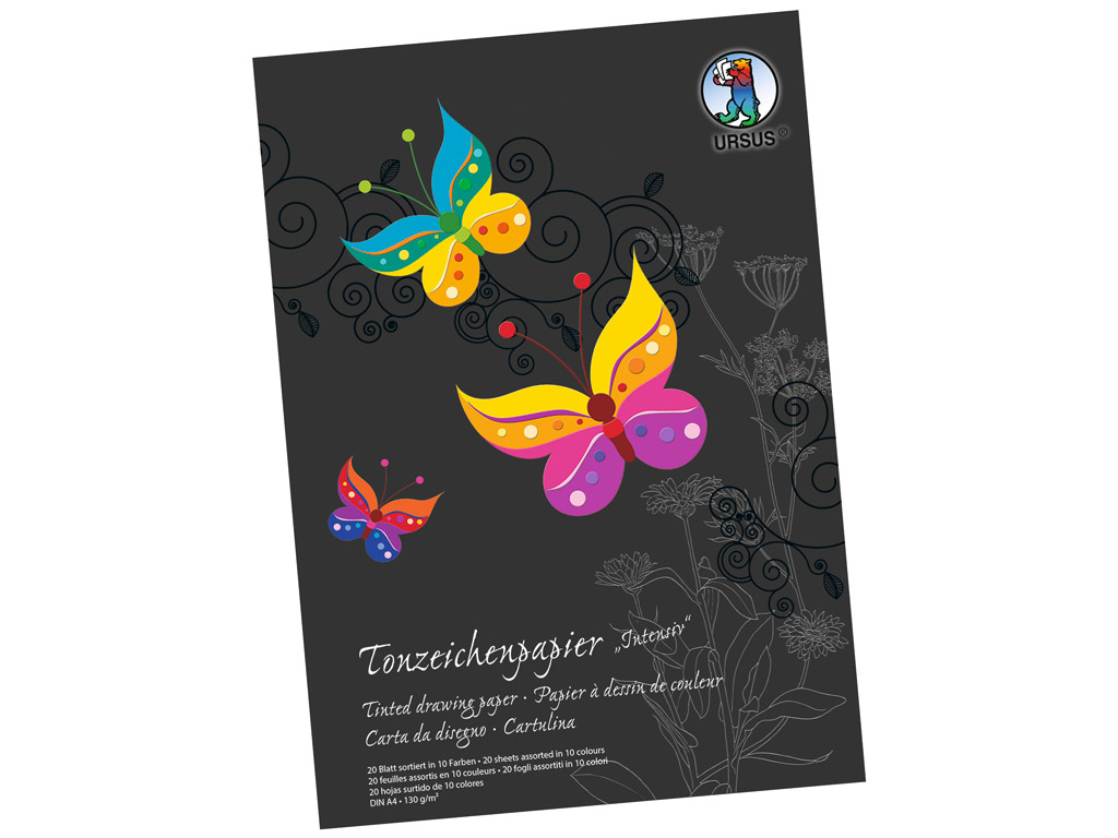 Coloured paper Ursus Special Edition A4/130g 20 sheets Intensive