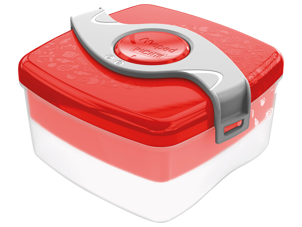 Lunch box Maped Picnik Kids Origins with 2 compartments 1.4l red