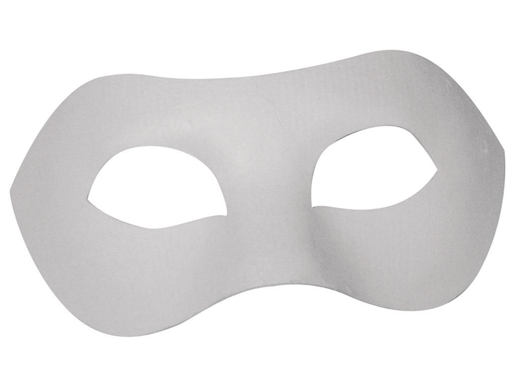 Maska kartona Rayher Domino 20x10cm ar gumiju balta