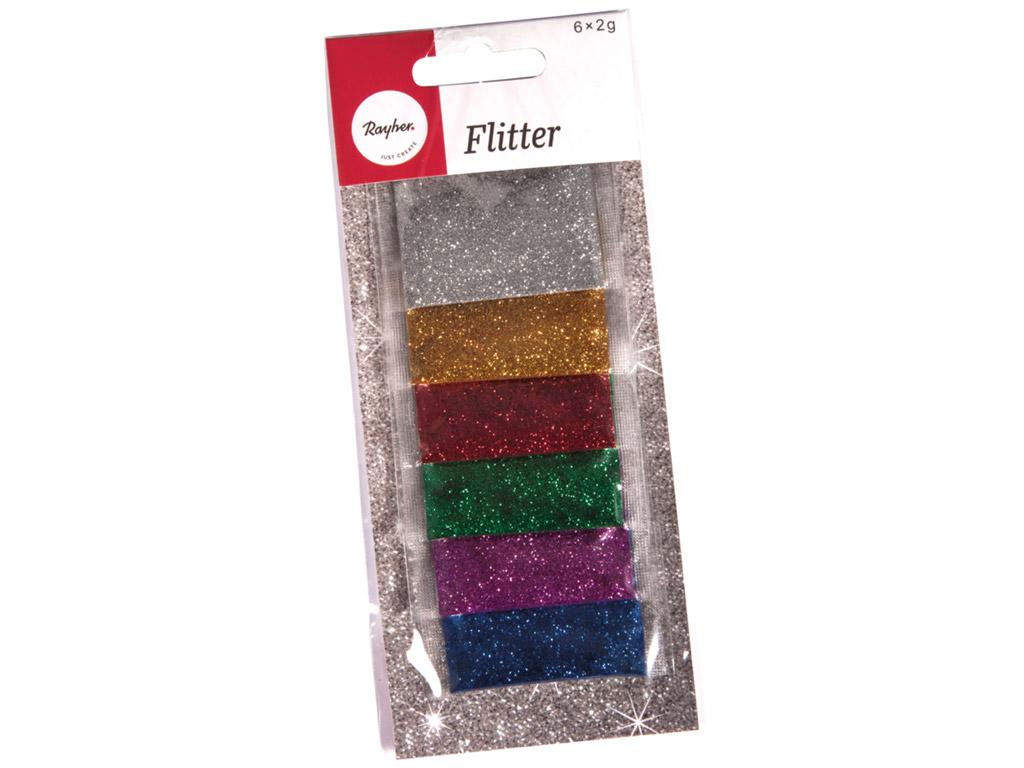 Gliteri Rayher 6x2g 6 krāsas asorti
