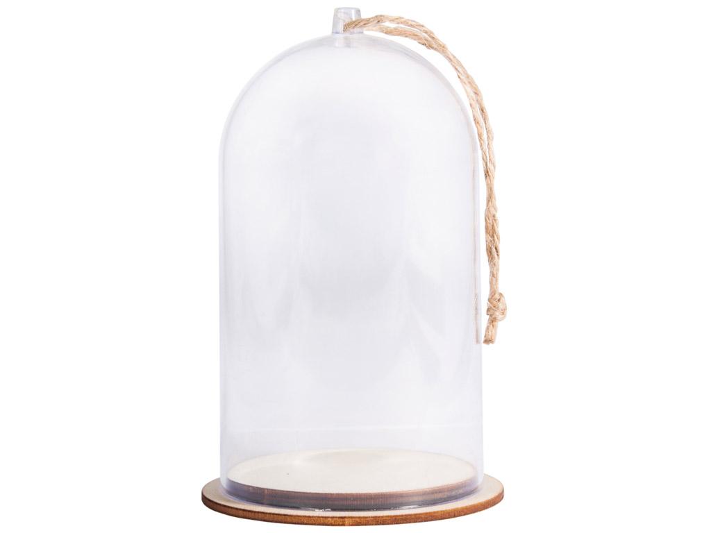 Kuppel plastikust Rayher alusega d=8cm h=12cm nööriga
