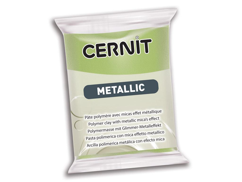 Polimērmāls Cernit Metallic 56g 051 green gold