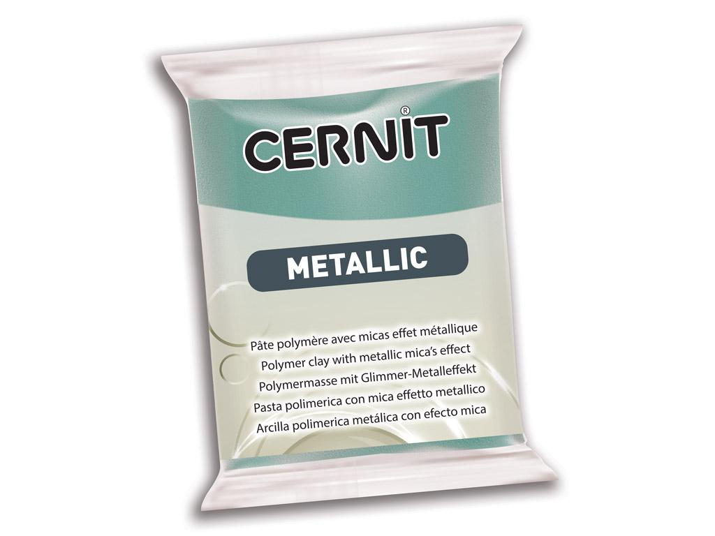 Polimērmāls Cernit Metallic 56g 054 turquoise gold