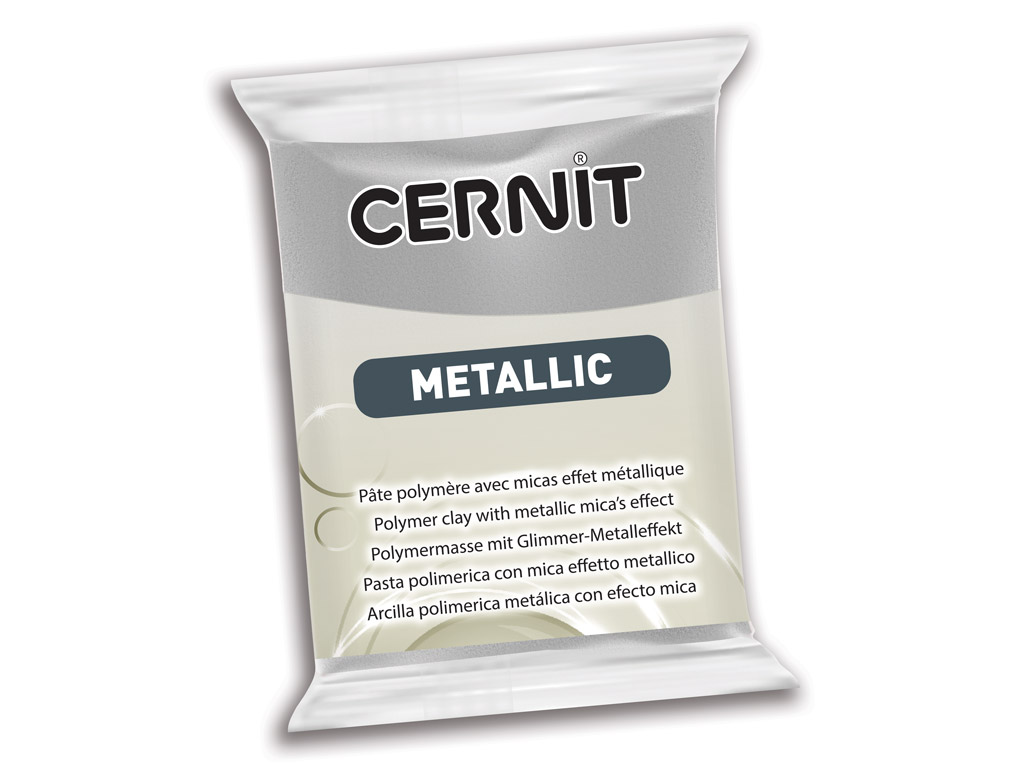 Polimērmāls Cernit Metallic 56g 080 silver