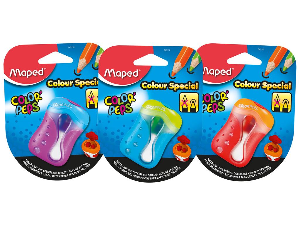 Zīmuļu asināmais Maped 2-caurumi ColorPeps blisterī