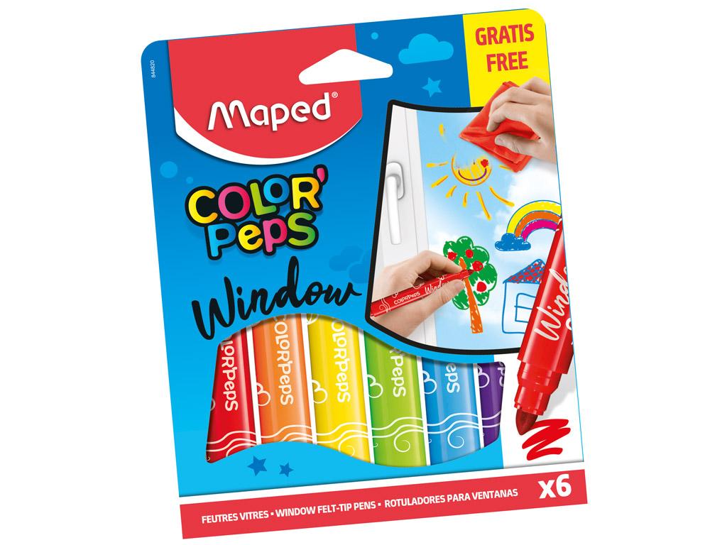 Viltpliiats klaasile ColorPeps 6tk