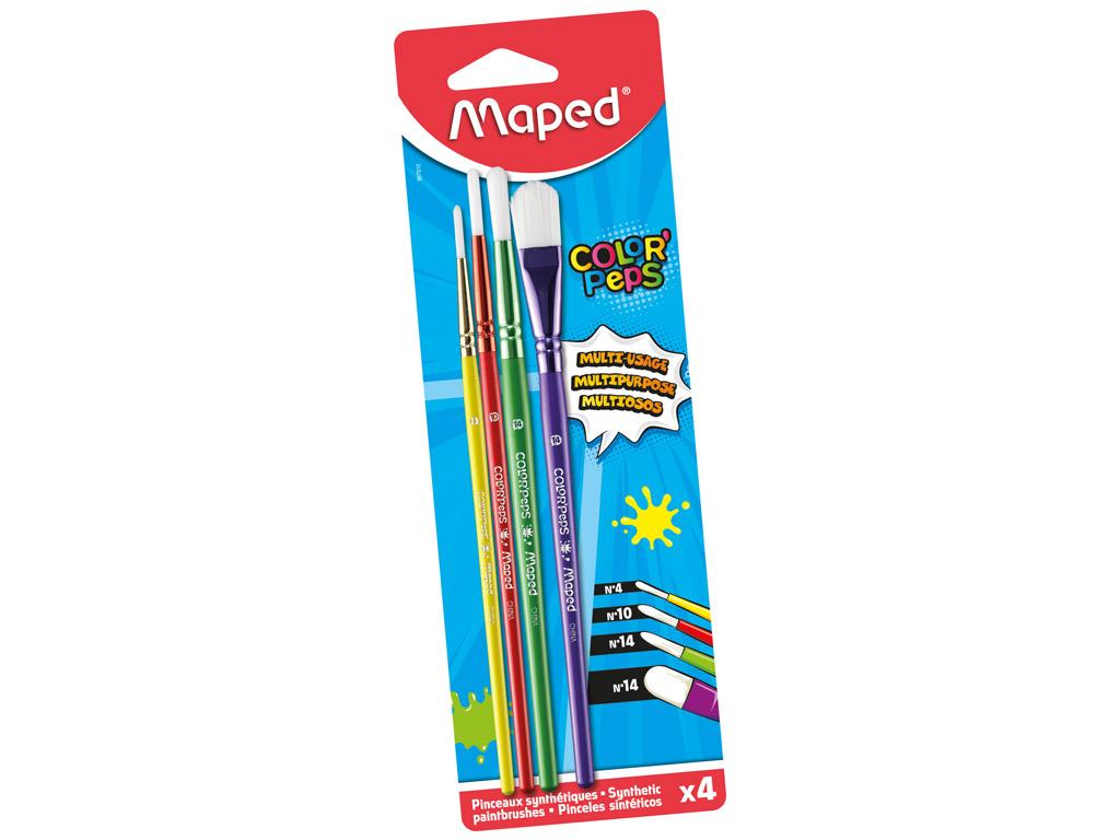 Pintslite komplekt ColorPeps sünteetiline ümar 04+10+14+lapik 14 4tk