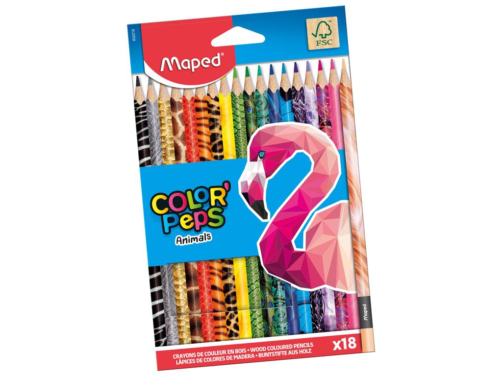 Värvipliiats ColorPeps Animals 18tk