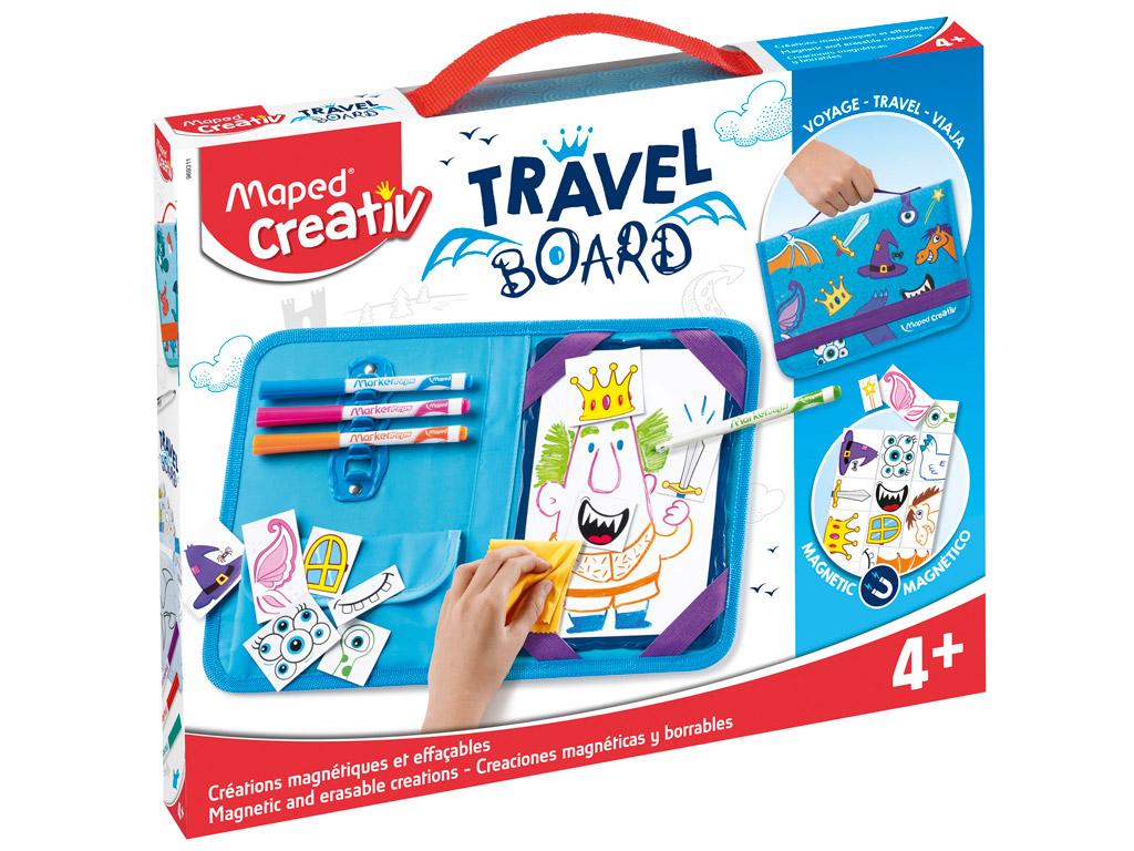 Joonistuskomplekt magnettahvliga Maped Creativ Travel Board Knights and Princesses