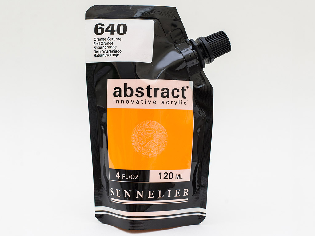 Acrylic colour Abstract 120ml 640 red orange