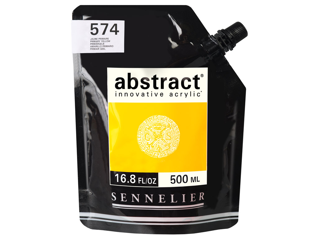 Acrylic colour Abstract 500ml 574 primary yellow (P)