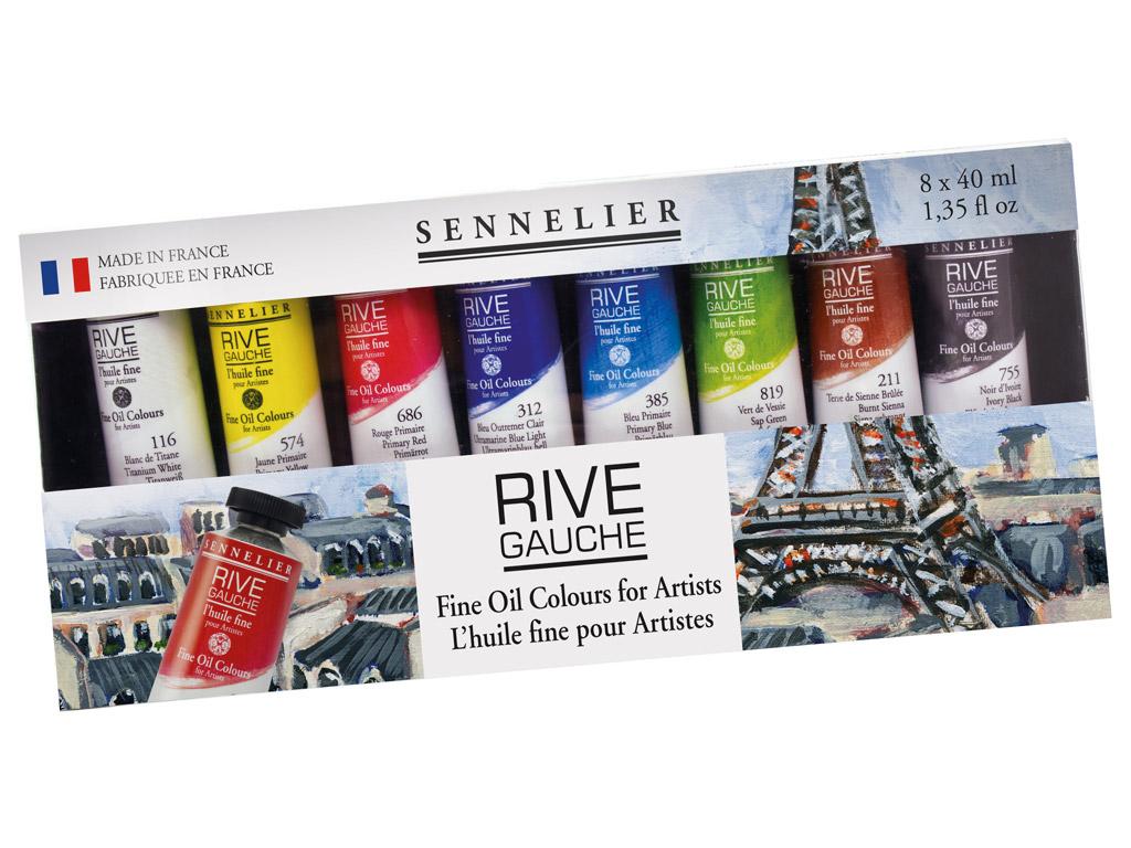 Aliejiniai dažai Sennelier Rive Gauche 8x40ml