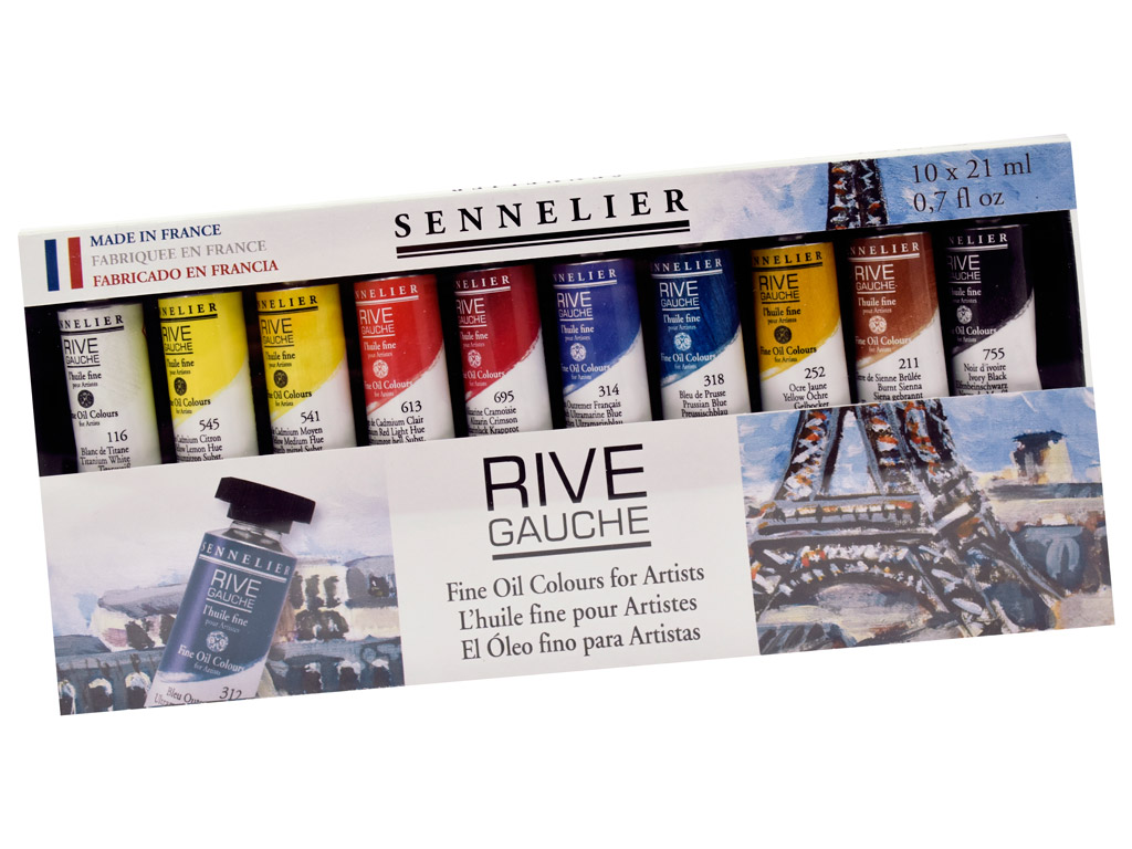 Aliejiniai dažai Sennelier Rive Gauche 10x21ml