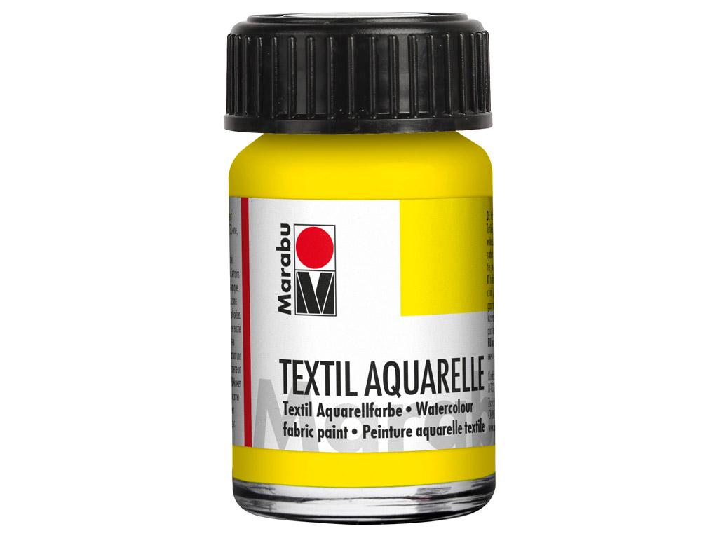 Fabric paint Textil Aquarelle 15ml 020 lemon