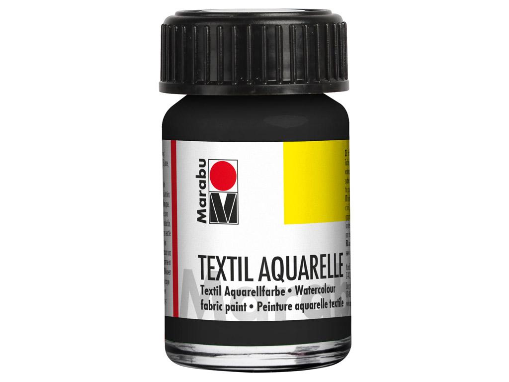 Fabric paint Textil Aquarelle 15ml 073 black