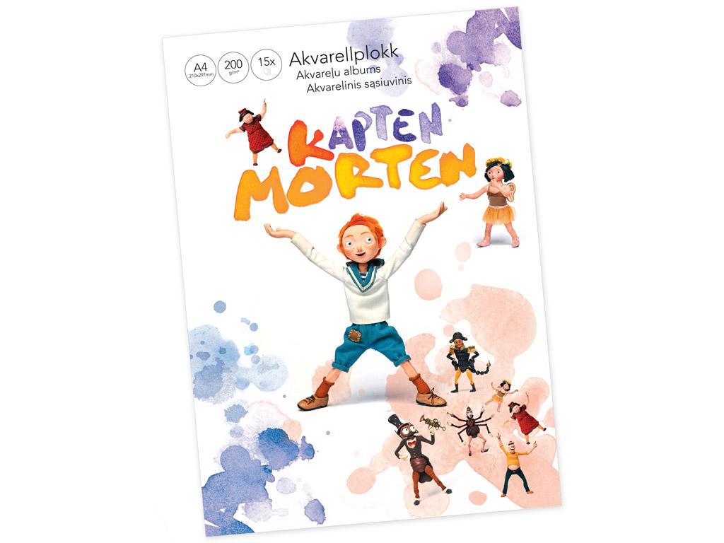 Akvareļbloks Kapten Morten A4/200g 15 lapas