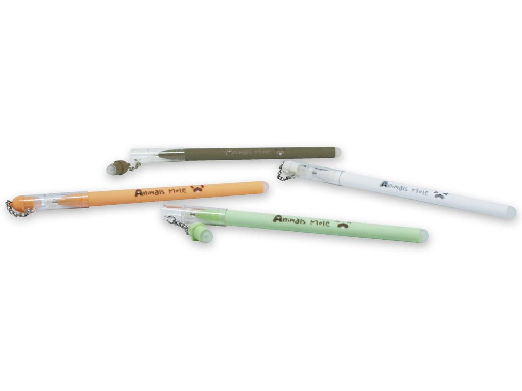Gēla pildspalva izdzēšams M&G Animals Mole 0.38 zila ar adatveida galu asorti