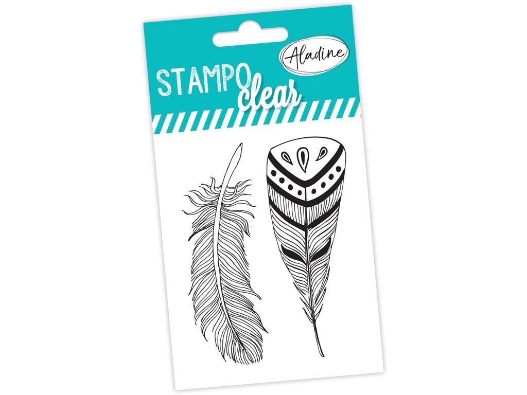 Tempel silikoonist Aladine Stampo Clear 2tk Feathers