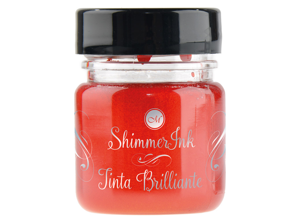 Kalligraafia tint Manuscript ShimmerInk 25ml fizzy orange