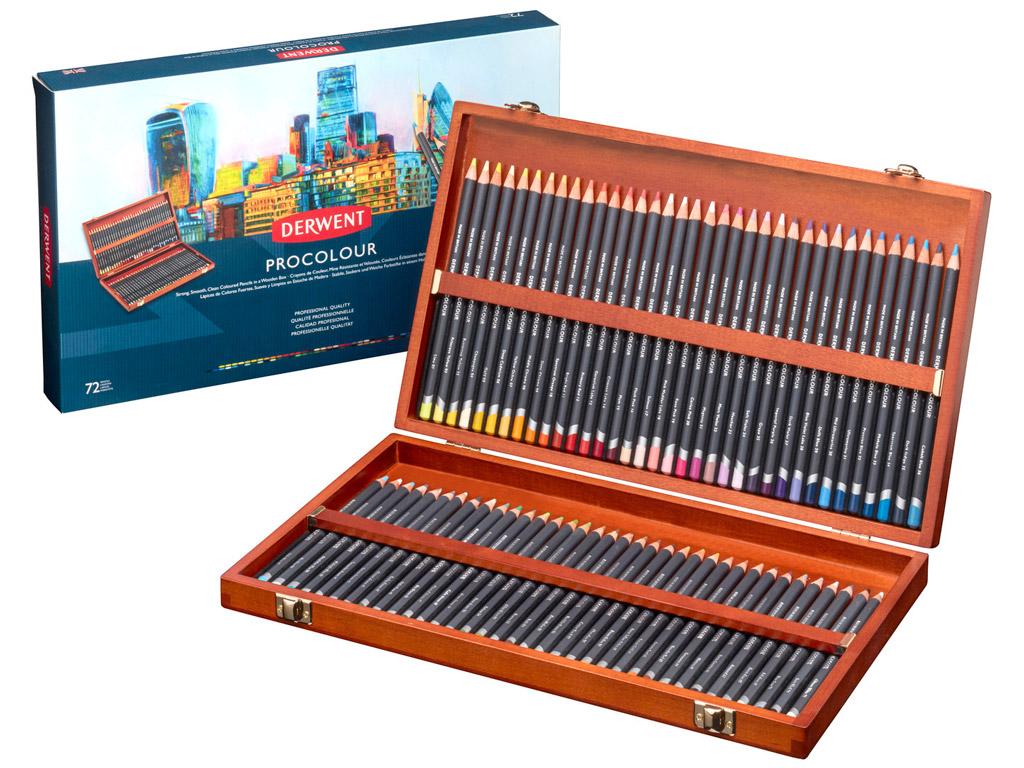 Colour pencil Procolour 72pcs wooden box