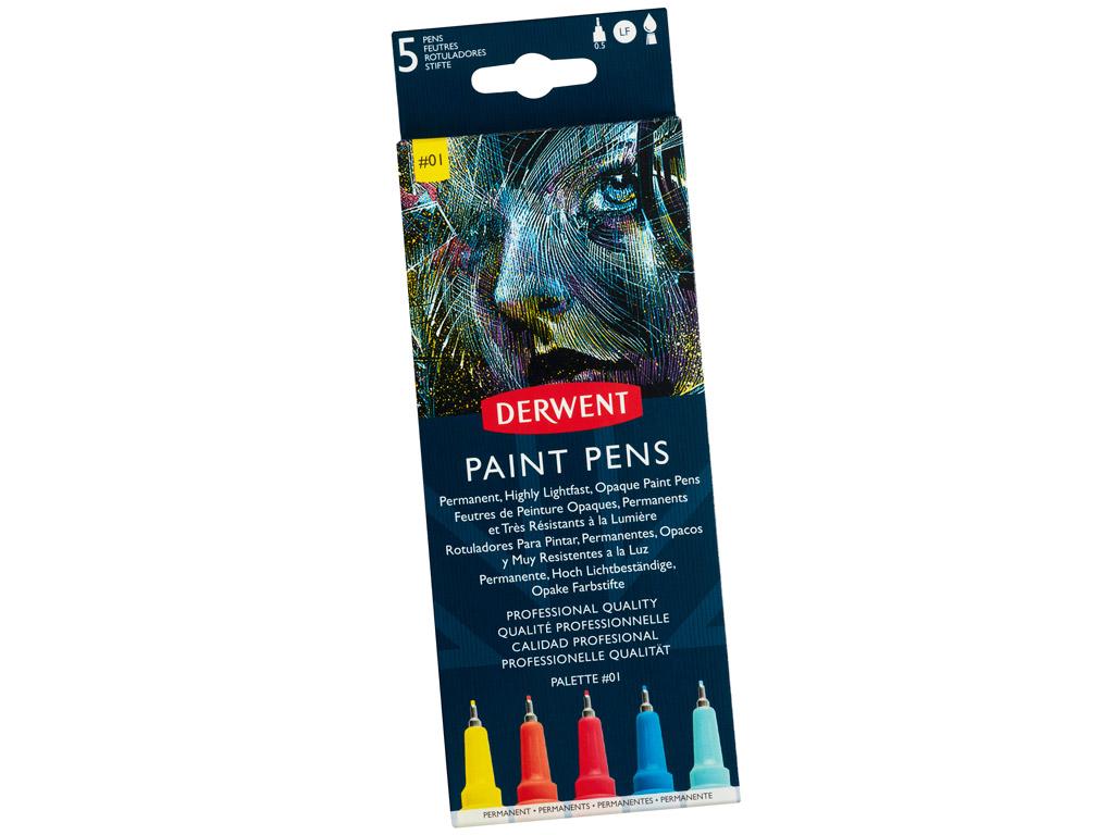 Marker Derwent Paint Pen 5tk Palette 1